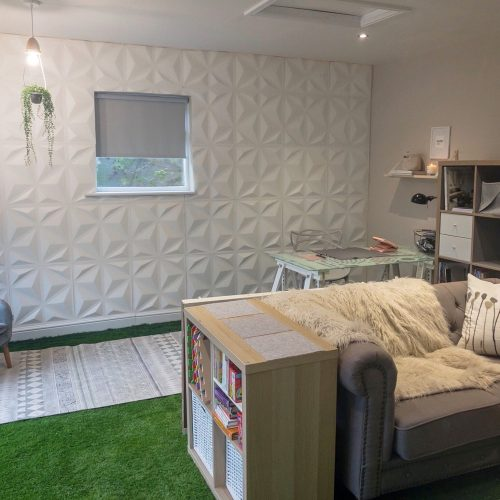 How to turn a garage into a work space, laundry and playroom