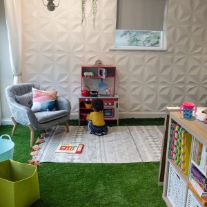 how to turn a garage into a workspace, laundry and playroom