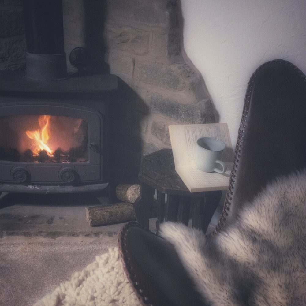 Hygge Open Fire with chair