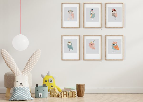 collection of owl prints