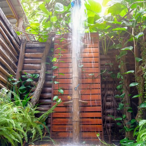 Tropical rain showers. Large shower heads can re-create this amazing spa feeling.