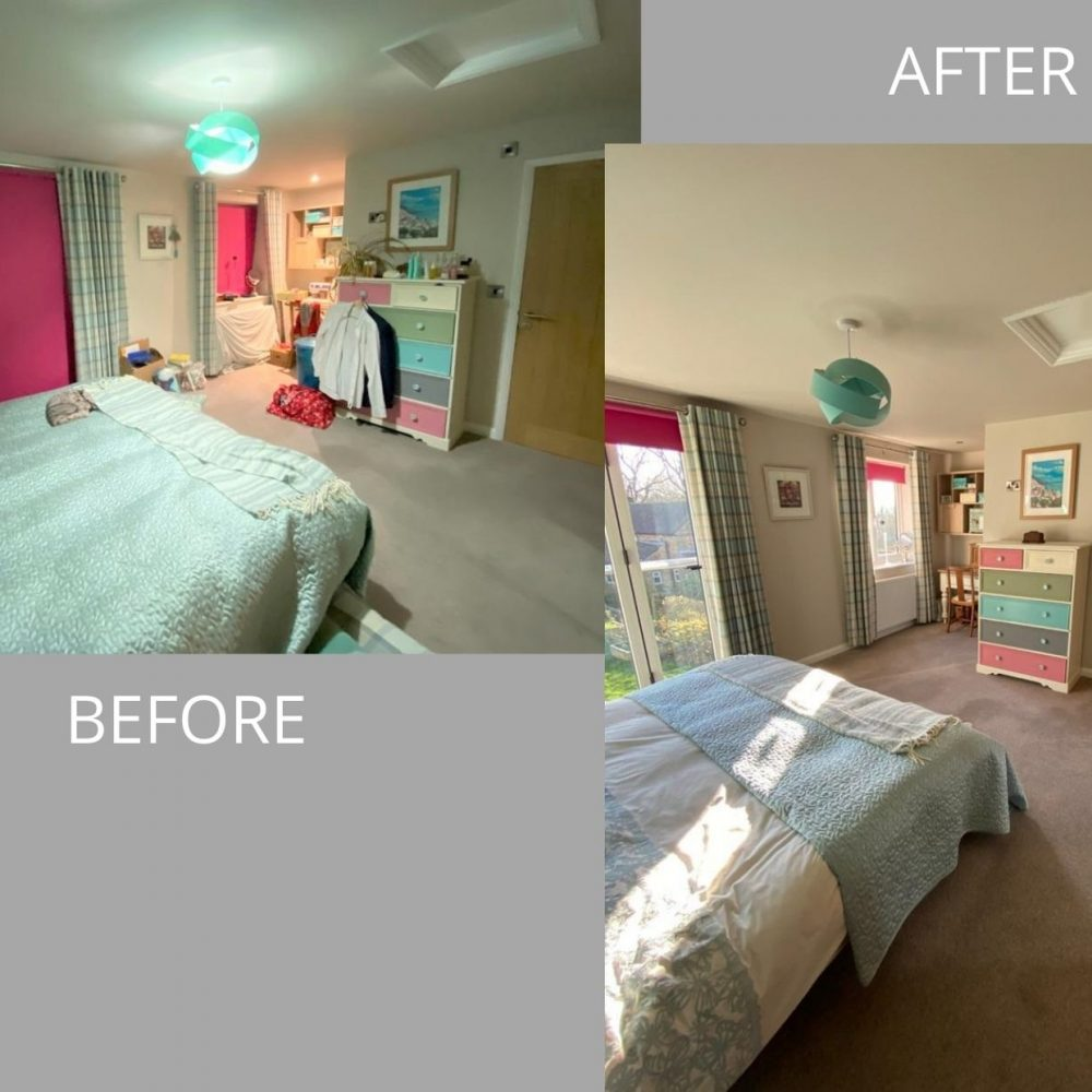 Before and after shots of house