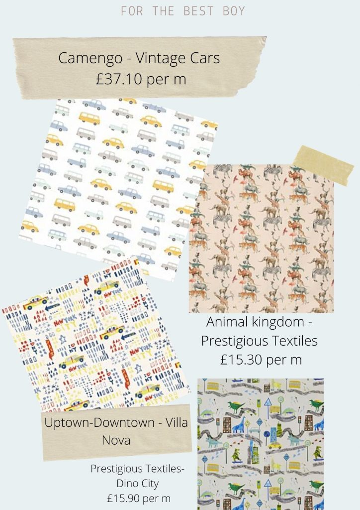 Fabrics For boys and girls